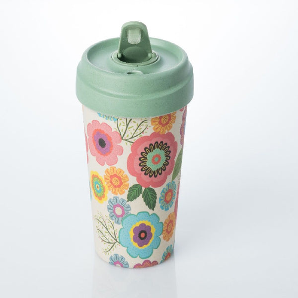 ChicMic Bamboo Travel Mug 400ml - Flower Power
