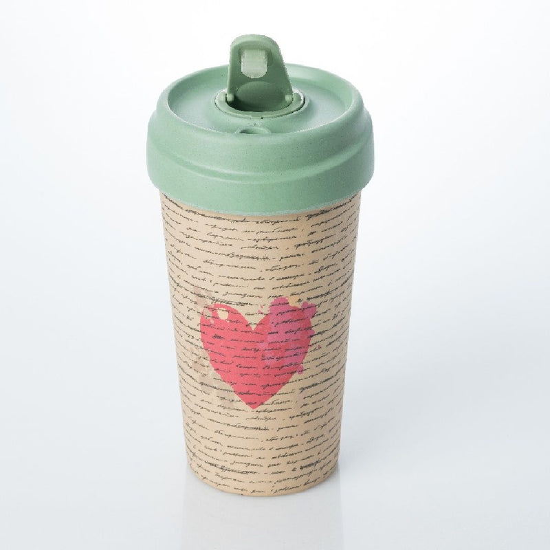 ChicMic Bamboo Travel Mug 400ml - Love Letter