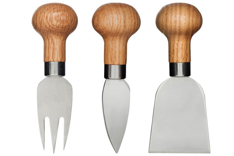 Oak Cheese Set 3pc