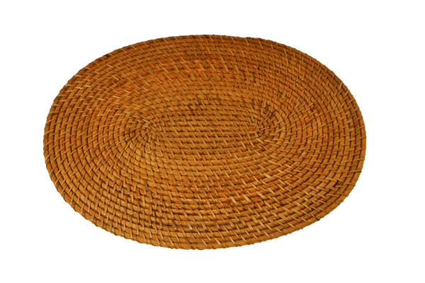 Rattan Placemat Oval - Natural