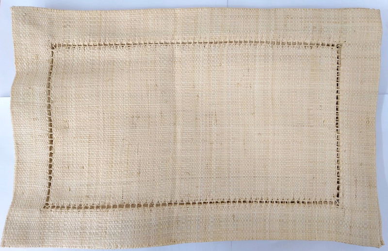 Raffia Placemat Rectangular - Natural