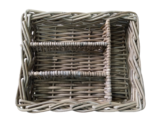 Rattan Thick Cutlery Holder