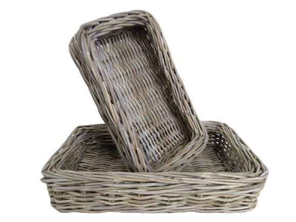 Rattan Thick Bakers Tray Rectangular