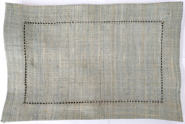 Raffia Placemat Rectangular - Grey