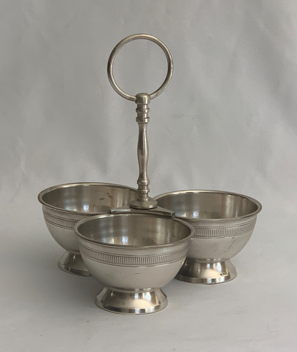 Salsa Bowl Triple - Pewter