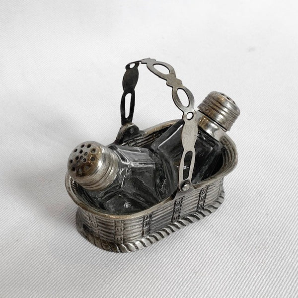 Salt & Pepper Glass In Basket