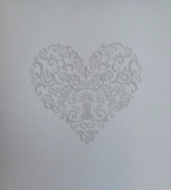 Embossed Heart Card