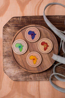 Stitched Africa Magnets - Set 4