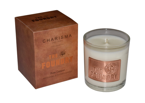 Foundry Glass Copper Candle