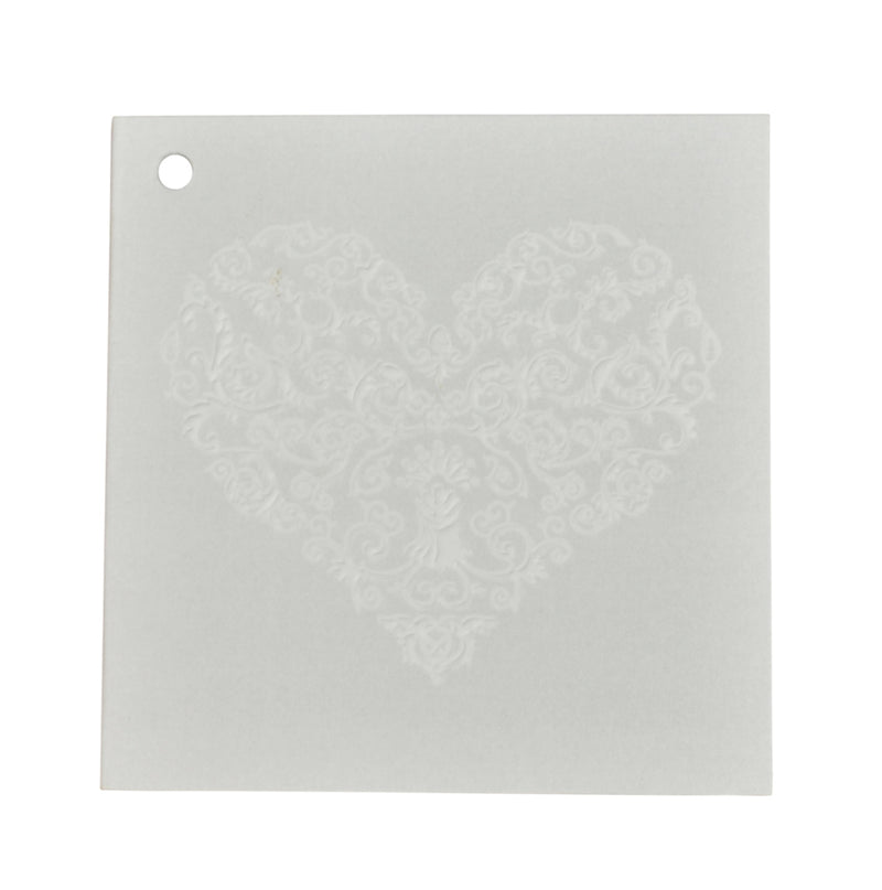 SQ Embossed Heart Tag