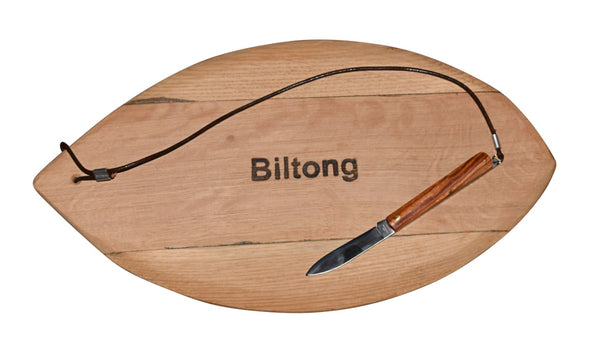 Biltong Board With Knife - Oval