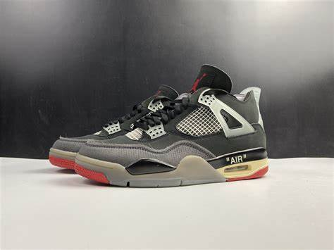 "QUICK LOOKS - Off White x Jordan 4 ""Bred"""
