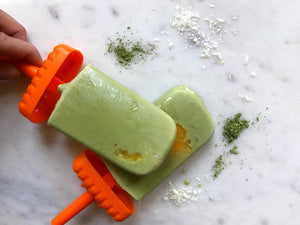 Matcha Orange Coconut Creamsicles