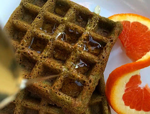 Matcha Orange Waffles