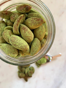 Matcha Covered Almonds