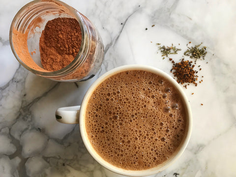 Peppermint Hot Chocolate with Chaga Mushroom
