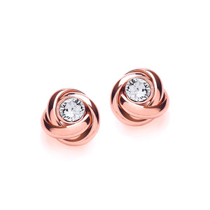 Rose plated rose studs