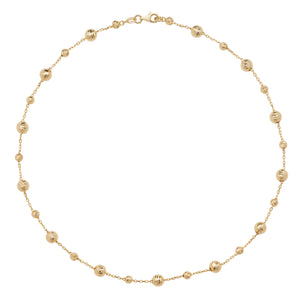 Yellow Gold ball necklet
