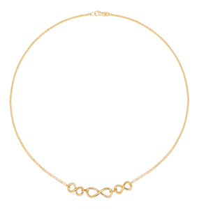 9ct Gold Infinity necklet