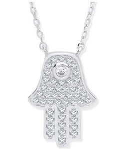 Centre stone Hamsa necklace