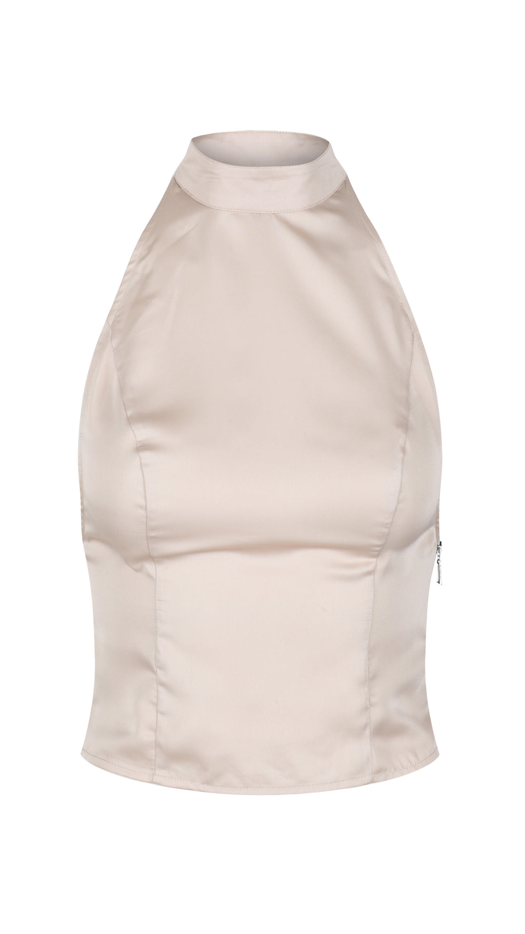 Seven Sins, Nude Satin Strappy Top