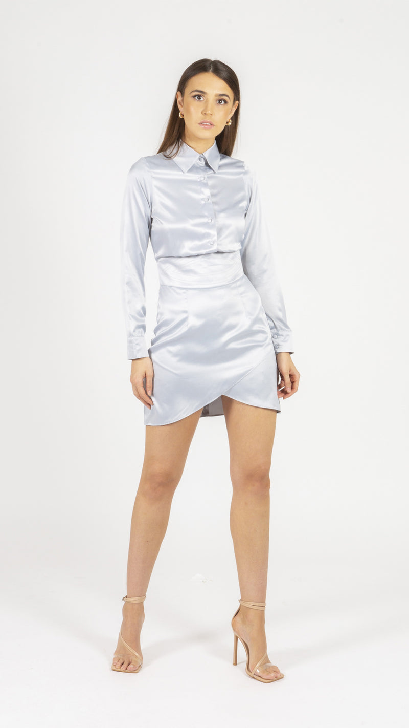 Psalm, Satin Wrap Dress