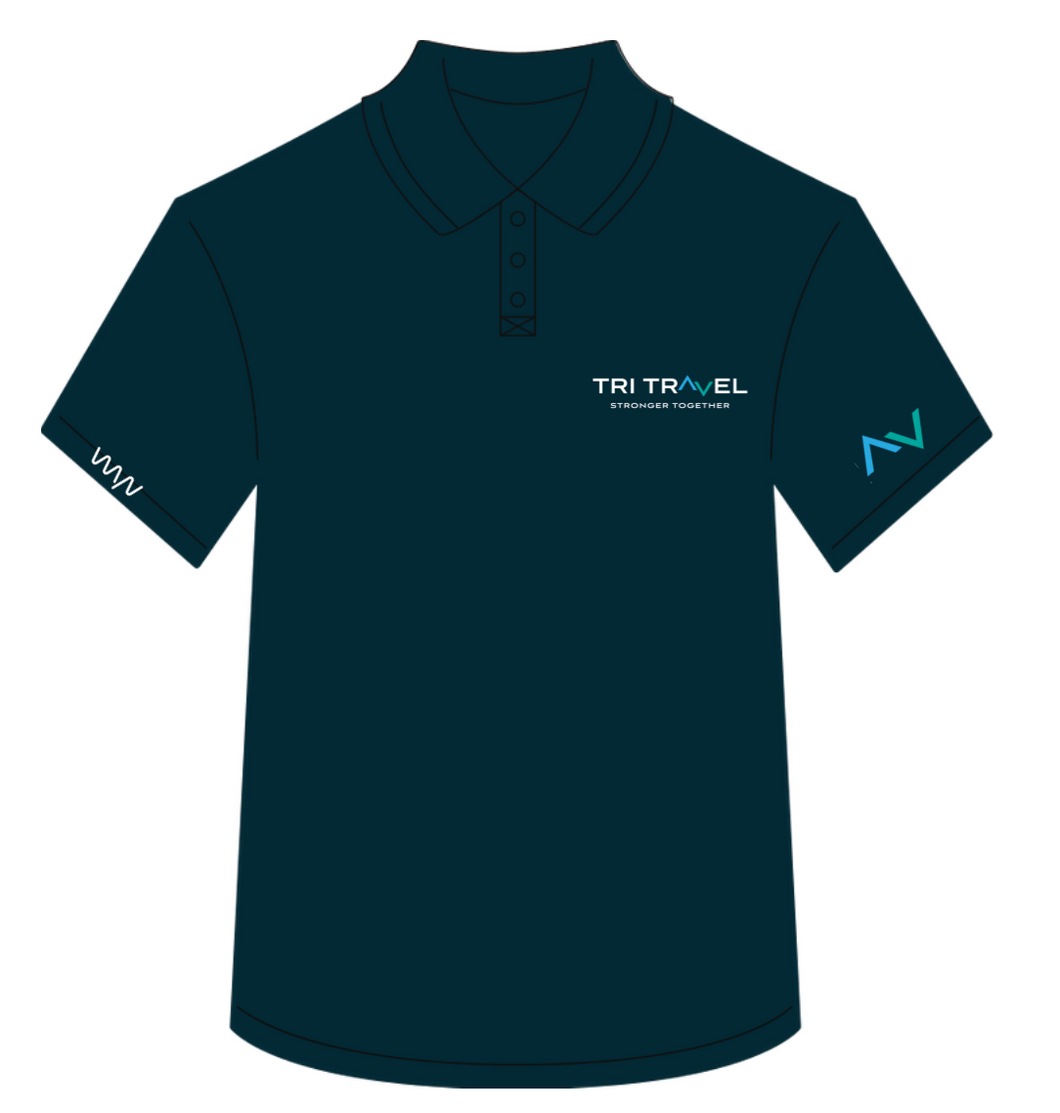 Tri Travel 2020 staff polo - men's