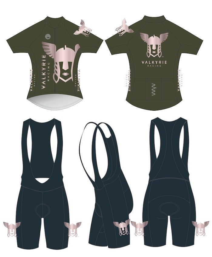 Valkyrie 2021 cycling kit (jersey & bib shorts) - women's *SAVE A FURTHER $20 TOP + BOTTOM