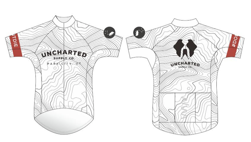 unchartered supply co. premium cycling jersey - men's (white)