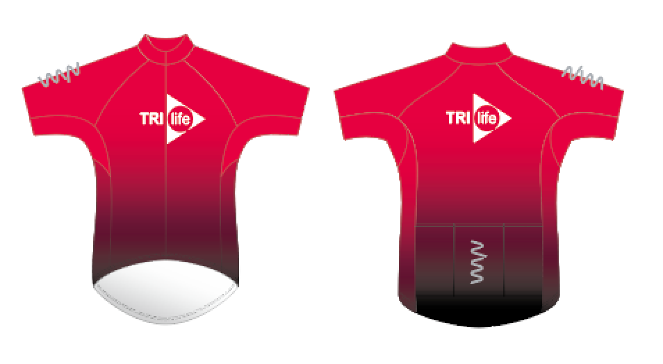 tri life premium cycling jersey - men's