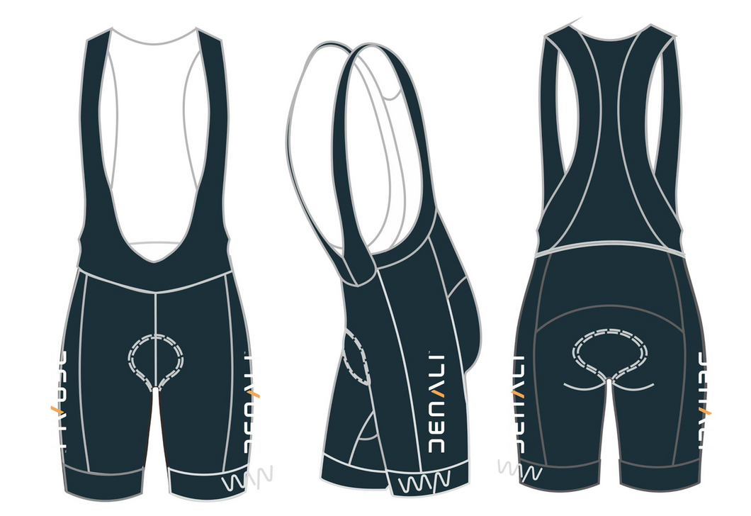 Denali Therapeutics premium cycling bib shorts - women's