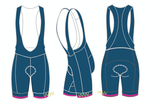 WOMEN'S - JJM Tulsa 2020 premium cycling bib shorts