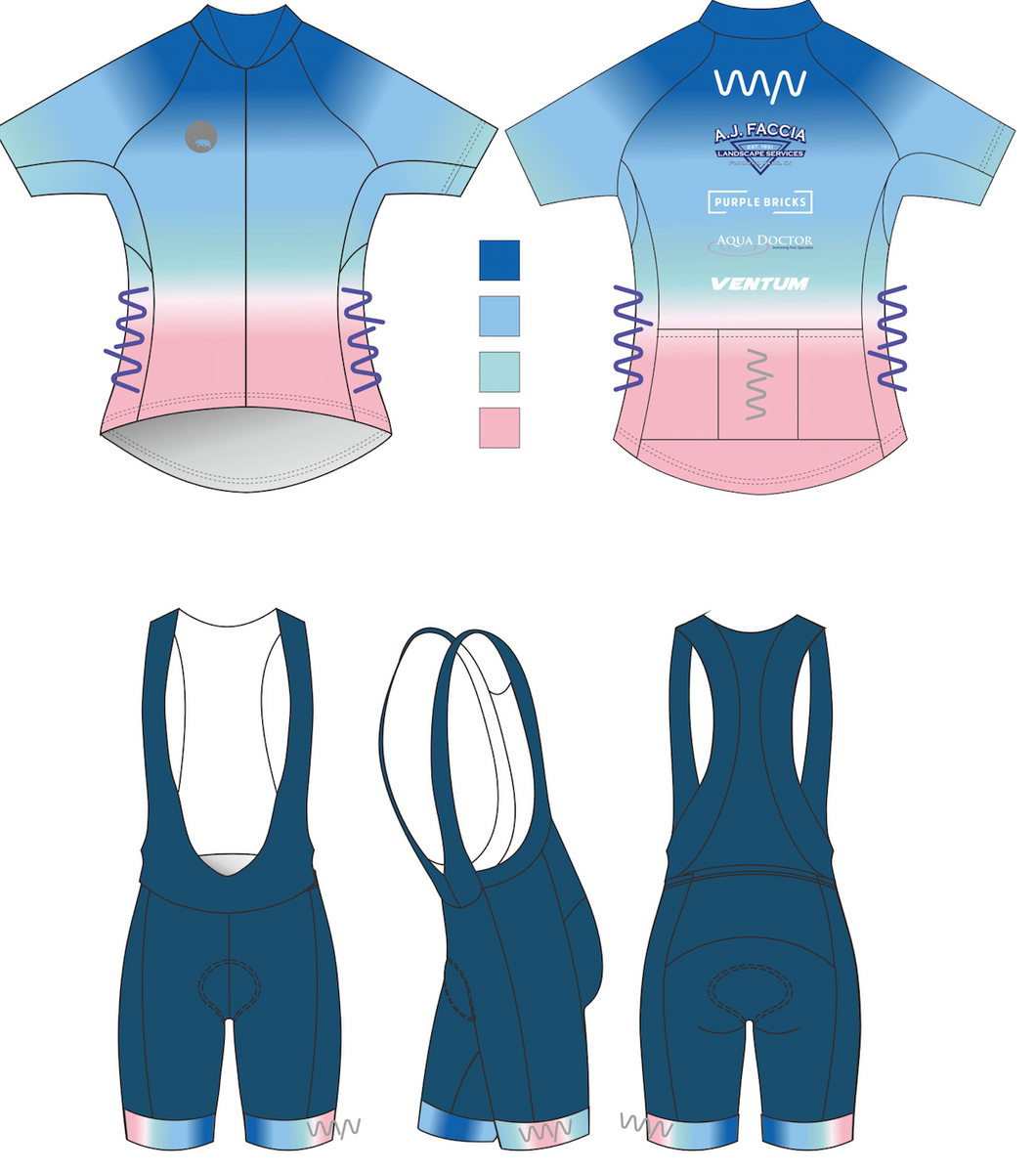 WYN x BERMUDA premium cycling kit (jersey + bib shorts)- women's