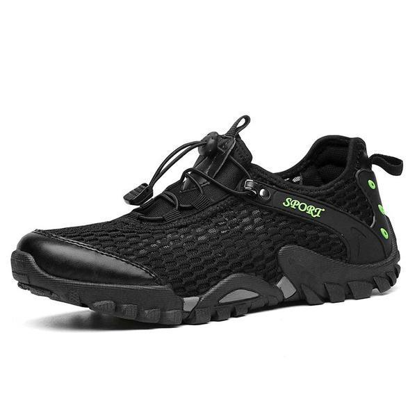 Mens Summer Breathable Mesh Leisure Athletic Shoes 135030 Black / Us 5 Men