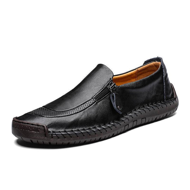 Men Hand Stitching Zipper Slip-Ons Leather Shoessecond -30% By Codebts30 115402 Black / Us 6 Shoes