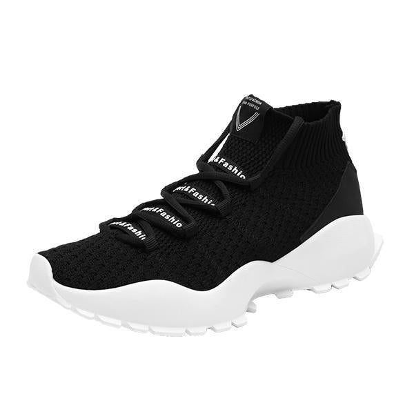 Mens High-Top Socks Shoes 115569 Black / Us 6.5 Men Shoes