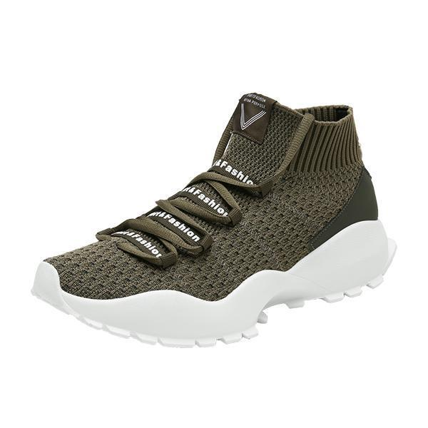 Mens High-Top Socks Shoes 115569 Green / Us 6.5 Men Shoes