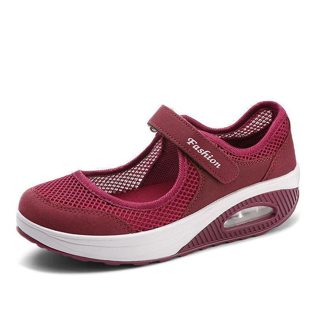 Womens Fashion Flying Woven Cosy Walking Shoes 116044 Red / Us 5 Women