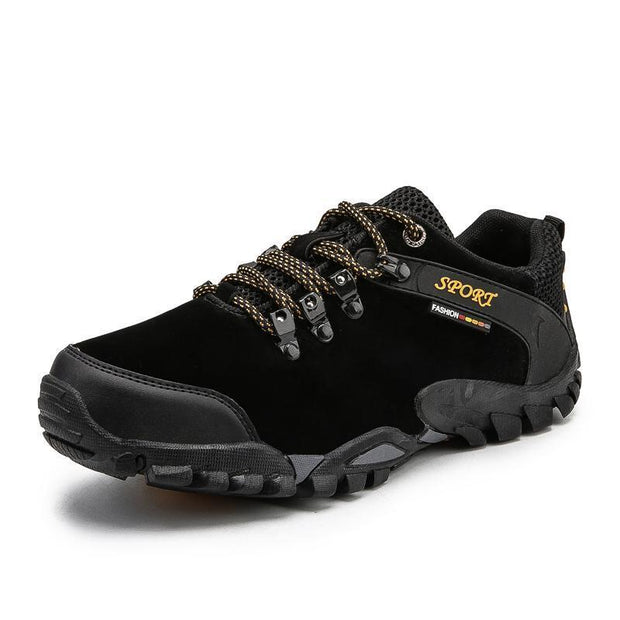Outdoor Hiking Shoes Non-Slip Mens Large Size Mountain Travel Casual Cross-Country 116287 Black / Us