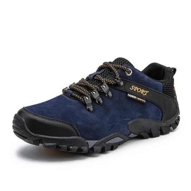 Outdoor Hiking Shoes Non-Slip Mens Large Size Mountain Travel Casual Cross-Country 116287 Blue / Us