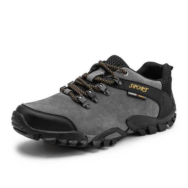 Outdoor Hiking Shoes Non-Slip Mens Large Size Mountain Travel Casual Cross-Country 116287 Grey / Us