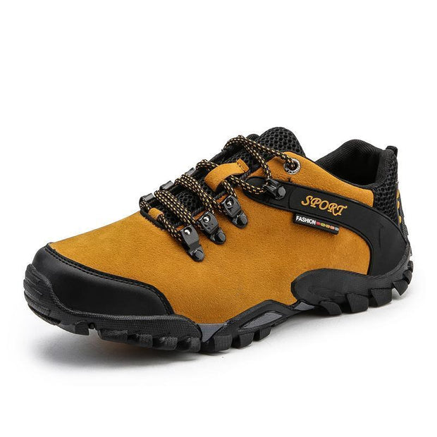 Outdoor Hiking Shoes Non-Slip Mens Large Size Mountain Travel Casual Cross-Country 116287 Yellow /