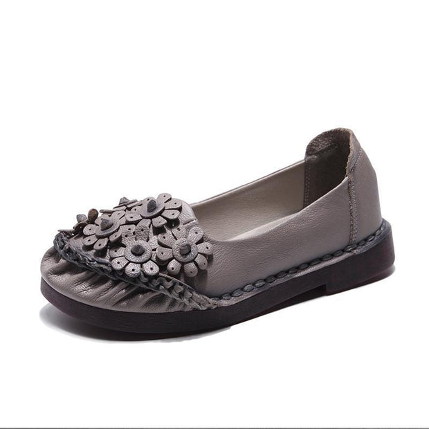 Women Flat Sole Antique Slippers 116354 Gray / Us 4 Shoes