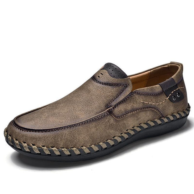 Men Leather Breathable Moccasins Loaferssecond -30% By Codebts30 116861 Khaki / Us 6.5 Shoes