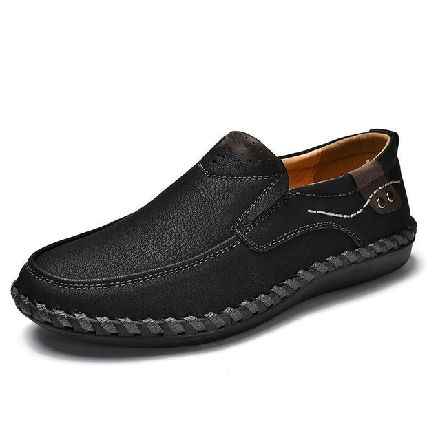 Men Leather Breathable Moccasins Loaferssecond -30% By Codebts30 116861 Black / Us 6.5 Shoes