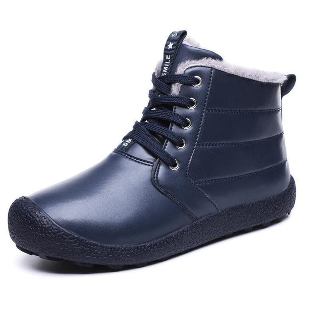 Mens Waterproof High-Top Cotton Shoes Snow Boots 116889 Blue / Us 7 Men Shoes