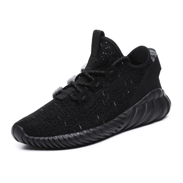 Mens Hollow Sports Leisure Flying Woven Shoes 116991 Black / Us 7 Men Shoes