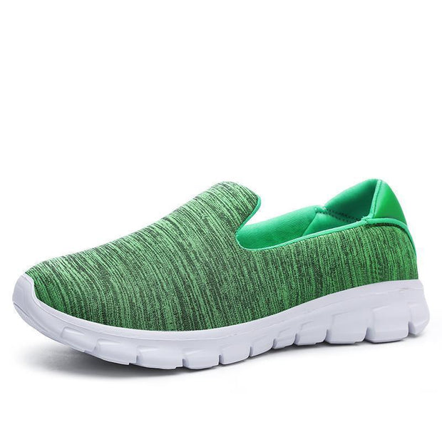 Women Breathable Slip-On Sneakers 117254 Green / Us 5 Shoes