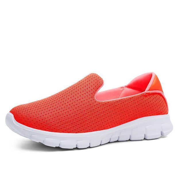 Women Breathable Slip-On Sneakers 117254 Orange / Us 5 Shoes