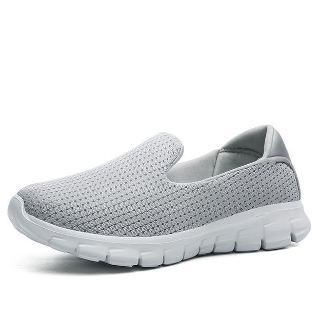 Women Breathable Slip-On Sneakers 117254 Light Gray / Us 5 Shoes